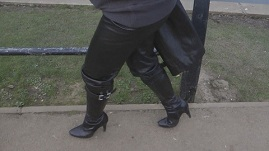 leather-boots-leather-pants-leather-jacket-lake